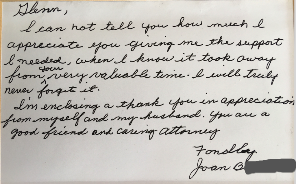 Letter from Joan B.