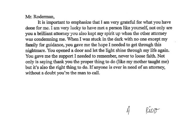 Letter from A. Rico