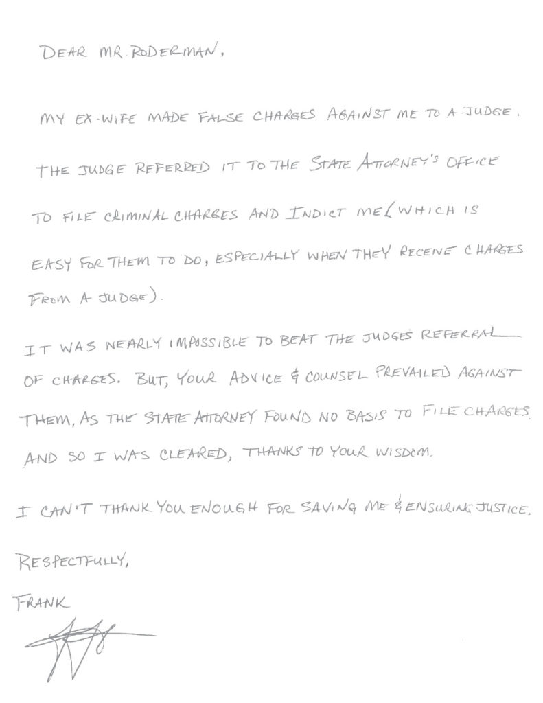 Letter from Frank