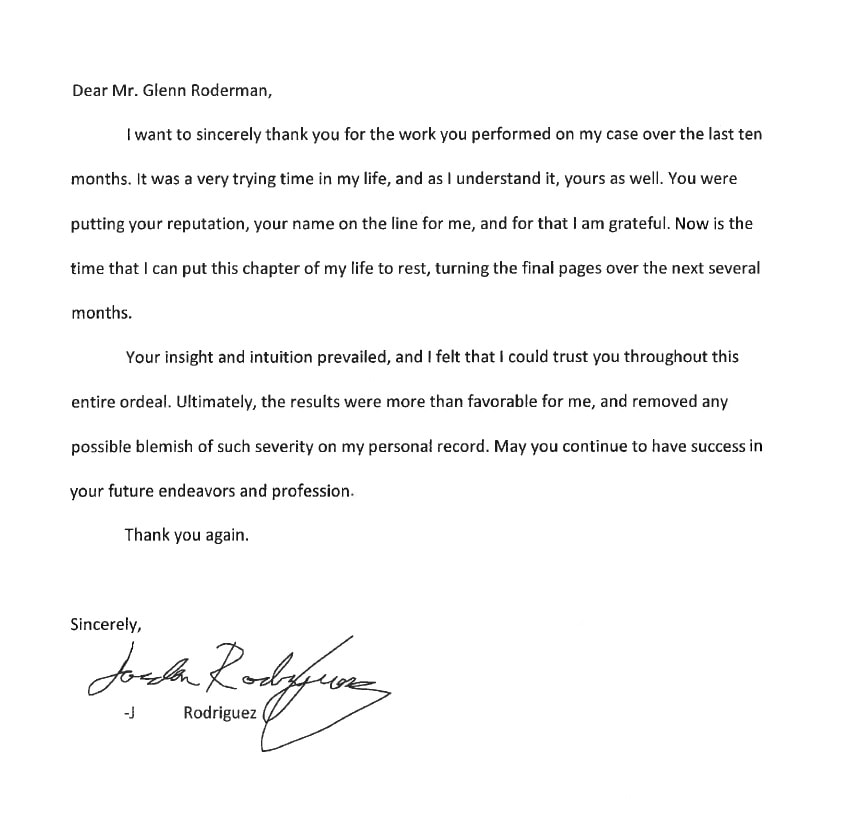 Letter from J. Rodriguez