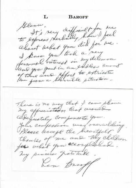 Letter from L. Baroff