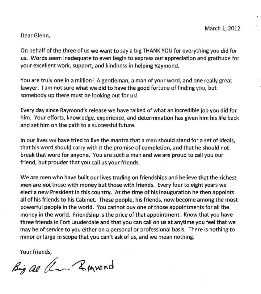 Letter from Big Al, Kevin, Raymond