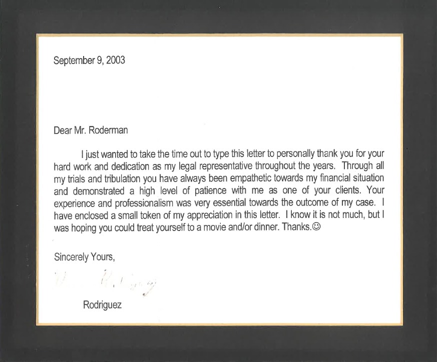 Letter from D. Rodriguez